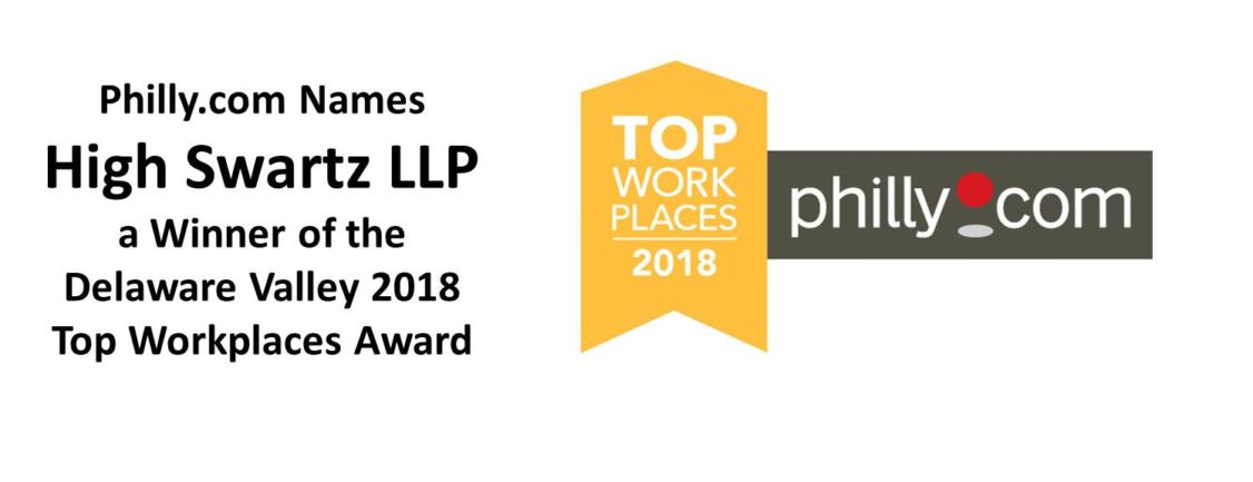 High Swartz law firm named a philly.com best workplace in the Delaware Valley